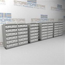 Rolling High Capacity Box Shelving Units | Storing Boxed Archives Record Boxes | SMSB287BX-4P6