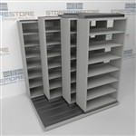 Slide-a-side cabinets, side-to-side shelf,4-Deep racks, Datum
