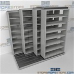 Slide-a-side shelves, side-to-side racking,4-Deep racking, Datum