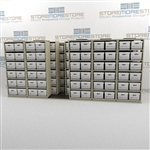 "Mobile File Box Storage Racks 12""x15"" Archival Record Moving Sideways On Rails 