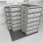 Rolling Shelves Letter/Legal Archival File Box Storage Racks Shelving | SMSQ221BX-4P6