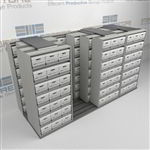 Sideways Sliding Box Units Storing Boxes of Files to Maximize Office Space | SMSQ243BX-4P7