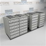 Lateral Side to Side File Box Racks | Archival Record Storage Shelves Shelving | SMSQ254BX-4P6