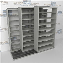 racking Slide-a-side, shelves side-to-side, racks Triple Deep, Datum