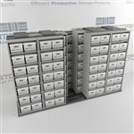 Side-to-side Mobile Letter/Legal File Box Racking Slides Sideways On Rails | SMST054BX-4P7
