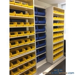 High Capacity Sliding Parts Bin Shelving