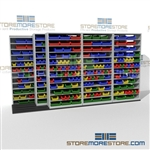 Small Parts Bins Sliding Shelving