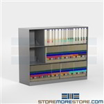 Stackable End Tab File Shelving 36 inches wide 3 Tiers High