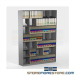 Slant File Shelf Cabinets Filing Racks Legal Depth 6 Levels Datum Super Stax