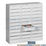 Drawer Storage Cabinet Organzier Office Supplies Literature Steel Tennsco 2085