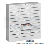 Office Organizer Drawer Cabinet Tennsco 3085 Metal Storage Supplies Literature