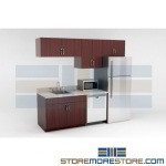 Pre-built Upper & Base Kitchen Cabinets for Breakrooms Manufactured Millwork