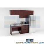 Break Room Furniture Kits Casework Cabinets Millwork for Employee Snack Lounge