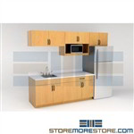 Industrial Lunchroom Casework Cabinets Upper & Lower Commercial Kitchen Cabs
