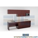 Manufactured Millwork Cabinets for Break Rooms Kitchen Casework Furniture