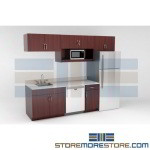 Office Breakroom Cabinetry Upper & Lower Cabinets for Commercial Lunch Rooms