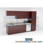 Commercial Lunchroom Preconfigured Cabinets for Breakrooms Lounges