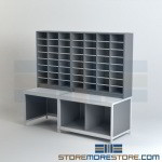 Modular Mail Sorting Casegoods Mailroom Furniture Sorter Cubbies