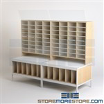 Mail Distribution Sorter Tables Overhead Display Vertical Shelves