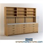 Pre-built Millwork Cabinets for Pharmacies Manufactured & Shipped Assembled