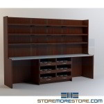 Pharmacy Dispensing Casework Furniture Shelves Cabinets Workstations