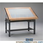 Drafting Table with Lightbox Drawing Furniture Desk Furniture Mayline 7734BLT