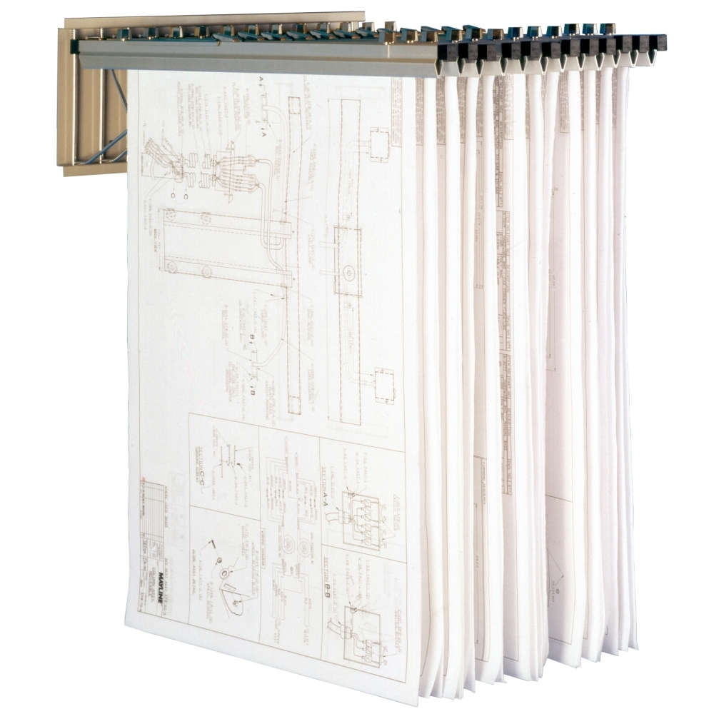 Plan Drawing Rack Hanging Blueprint Storage Wall