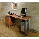 Espresso PC Desk with File, #SMS-31-SOHO905