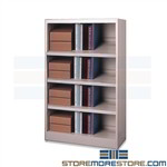 Metal Office Shelving Storing Binders Adjustable Mayline 4280NE1