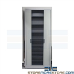 Accessible File Shelving Cabinet with Tambour Doors SMS-37-6248A3
