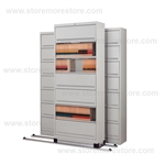 rolling 7 tier flipper door cabinets with Free Shipping, Stores end tab letter and legal files behind locked doors