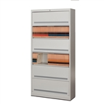 Six Tier Flipping Door File Cabinet with Locking Doors comes with Free Shipping, stores Legal Size and Letter Size End Tab File Folders behind Locked doors