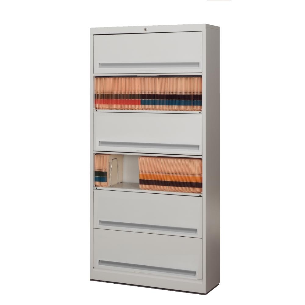 6 Tier Flipping Door File Cabinet Flip Up Doors Filing