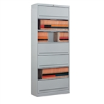 Seven Tier Flip and File Cabinets with Locking Doors that Ships Free, Stores both legal size and letter size end tab shelf file folders