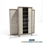 Quiet Open Cabinet with Sliding Security Doors on tracks SMS-37-FH4221
