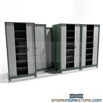 File Shelving Cabinet with Sliding Security Doors on tracks SMS-37-FH42433