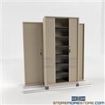 Office Secure Filing Shelving with Sliding Doors on tracks SMS-37-FH4821