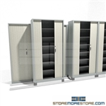 Locking Attractive File Shelves with Sliding Tambour Doors on tracks SMS-37-FH4843