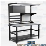 Electronics Repair Workstation Technician Furniture Workbench TW2 Mayline
