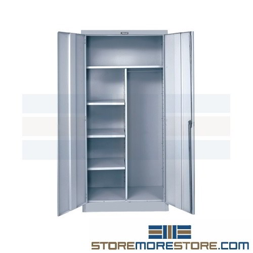 Alternative Views  sc 1 st  StoreMoreStore & Multi-Purpose Storage Cabinet Janitor Supplies Chemicals Mops Free ...