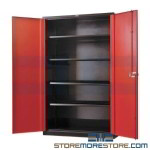 Welded Storage Cabinet with Hinged Doors Heavy-Duty Industrial Quality Fort Knox by Hallowell