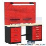 make your automotive shop a place of wonder, Fort Knox bold red and black, automotive workbench system, weekend grease monkey
