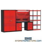 industrial work center, industrial workcenters, garage shelving, all-welded cabinets, mechanics workbench, workbenches for sale, metal work bench, industrial workstations