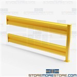 7' Industrial Safety Barriers Forklift Guardrails Yellow OSHA Material Handling