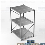 Boltless Wide Span Shelves Storage Racks Welded Upright Frames HBR6048123