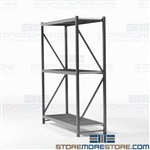 Boltless Wide Span Shelving Racks Storing Large Heavy Boxes Hallowell HBR7224123