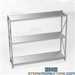 Long Span Bulk Racks Adjustable Shelves Extra Wide Storage Shelving Hallowell
