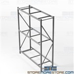 Wide Span Bulk Shelving Storage Racks Free Shipping Hallowell HBR7236123-3S-PB