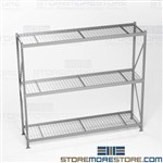 Storage Racks for Large Bulky Boxes Adjustable Shelves Hallowell HBR962487-3S