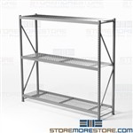 Wide Span Bulk Racks Free Shipping 8' Wide 3' Deep Welded Frames Hallowell